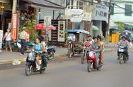 Stock Photo of street in vientiane