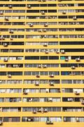 living in the city from singapore china town. - stock photo