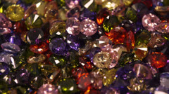 Colorful Fantasy Gem Stones Glittering Stock Footage