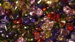 Colorful Fantasy Gem Stones Glittering Stock Footage
