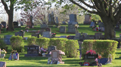 Cemetery On a Hill Sunset - stock footage