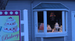 Bakery store front Stock Footage