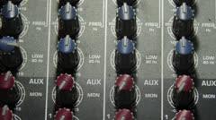 Audio Mixer - Dials close up Stock Footage