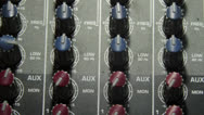Audio Mixer - Dials close up Stock Footage