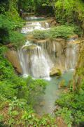 viewpoint waterfall in national park, thailand. - stock photo