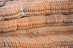 pattern of the tile roof. - stock photo
