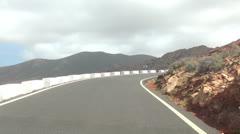 Cameracar on the road - Fuerteventura Stock Footage