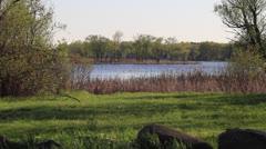 Riverside Green Lake Watershed Stock Footage