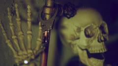 dead skeleton prisoner - stock footage