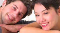 Happy interracial couple - stock footage