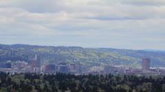 Portland Oregon Skyline Timelapse from Mt. Scott in Spring 1080p Stock Footage