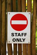 Staff only sign Stock Photos