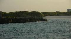 Mexico, Caribbean ocean - stock footage