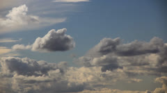 Rain clouds concentrate in the sky - stock footage