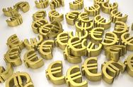 Golden euro signs Stock Illustration