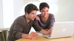 Couple planning a vacation together Stock Footage