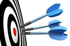 dart arrows - stock illustration