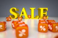 Sale sign with percentage dice Stock Illustration