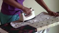 Ironing - stock footage