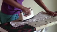 Stock Video Footage of Ironing
