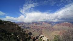 Grand Canyon wide tilt down Stock Footage