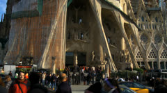 Barcelona 102 SagradaFami'lia Stock Footage