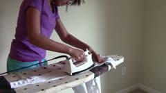 Ironing Sleeve Stock Footage