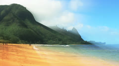 Tropical beach in Kauai #2 Stock Footage