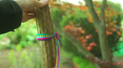 Rainstick native american prayer Stock Footage