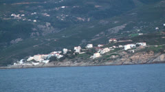 View of Ikaria Island in Greece Stock Footage