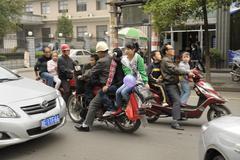 Traffic in Shaoyang, China Stock Photos
