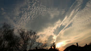 Stock Video Footage of Urban Sunset and Clouds timelapse