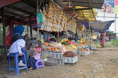Street grocery in Malaysia Stock Photos