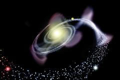 galaxy spiral - stock illustration