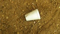 Styrofoam biodegradable soil Stock Footage