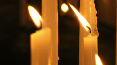 Burning candles, Gulf of Poets Chapel, Portovenere Stock Footage