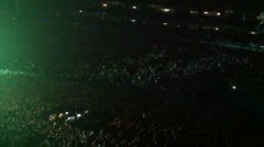 Crowd at concert o2 arena - stock footage