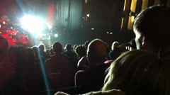 Concert barbican These new puritans crowd sitting Stock Footage