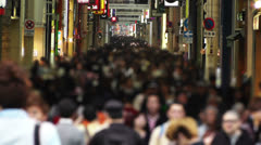 Anonym Crowd in Osaka Slowmotion 1 Stock Footage