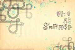 give me summer - stock photo