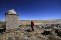 ruins of atlantis, bolivia - stock photo