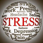 Stress related text arrangement Stock Illustration