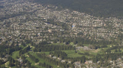 Vancouver Suburbs and Golf Course Stock Footage