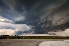 Florida Everglades Supercell Thunderstorm Stock Photos