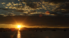 Zephyr Cove Sunset Stock Footage