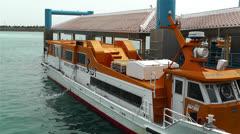 Japanese Tourist Ship in Port Okinawa Islands Japan 1 Stock Footage
