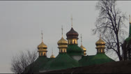Stock Video Footage of dome of the Orthodox church and the monument to the victims of famine