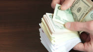 Counting Cash Money Stock Footage
