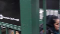 New York City Subway sign Stock Footage