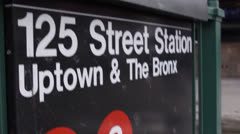 New York City Subway sign Stock Footage